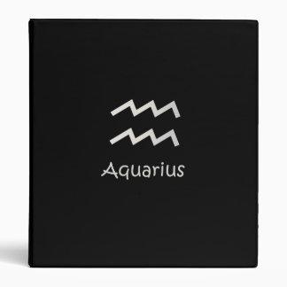 Black Aquarius Zodiac January 20 - February 18 Binder