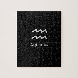 Black Aquarius Zodiac January 20 - February 18 Jigsaw Puzzle