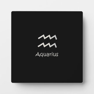 Black Aquarius Zodiac January 20 - February 18 Plaque