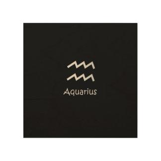 Black Aquarius Zodiac January 20 - February 18 Wood Wall Art