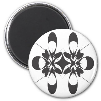 Black arabesque 2 inch round magnet