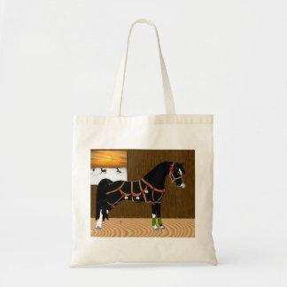 Black Arabian Horse Christmas Tote Bag