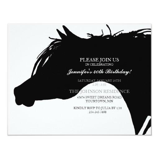 Horse Birthday Party Invitations was nice invitation example