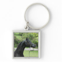 Black Arabian stallion Keychain