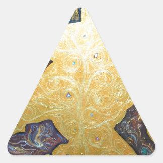 Black Archipelagoes(gold symbolism) Triangle Sticker
