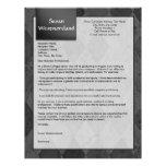 Black Argyle Custom Cover Letter Template Letterhead