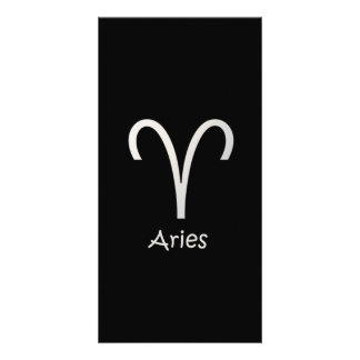 Black Aries Zodiac March 21 - April 19 Astrology Card