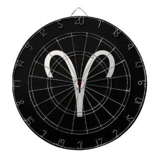 Black Aries Zodiac March 21 - April 19 Astrology Dart Board