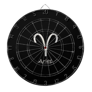 Black Aries Zodiac March 21 - April 19 Astrology Dart Boards
