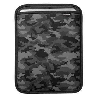 Black Army Military Camo Camouflage Pattern Fabric iPad Sleeves