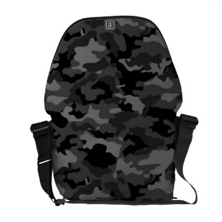 Black Army Military Camo Camouflage Pattern Fabric Courier Bag