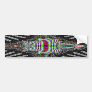 Black Around Colors Abstract Art Bumper Sticker