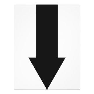 black arrow down icon flyer