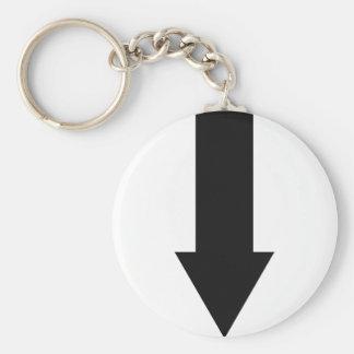black arrow down icon keychain