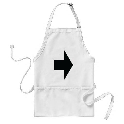black arrow right adult apron