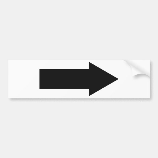 black arrow right icon bumper sticker