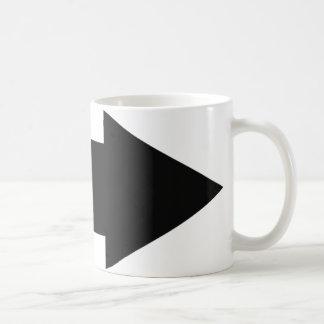 black arrow right icon coffee mug