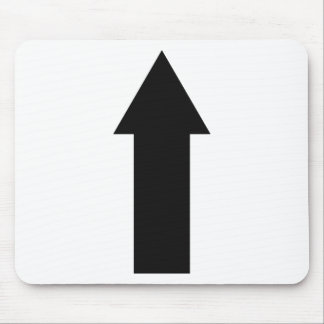black arrow up icon mouse pad