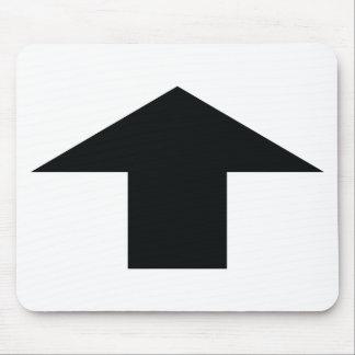 black arrow up mouse pad