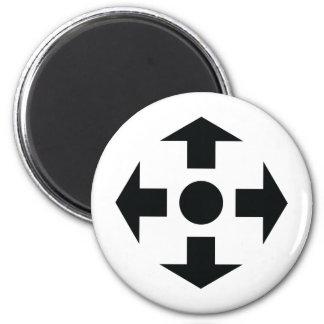 black arrows icon 2 inch round magnet