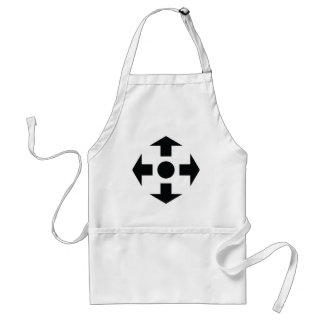 black arrows icon adult apron