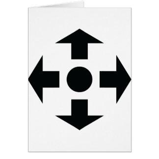 black arrows icon card