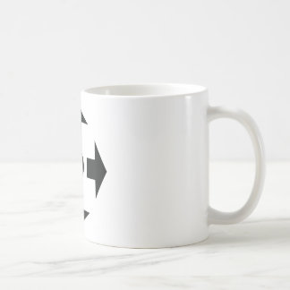 black arrows icon coffee mug