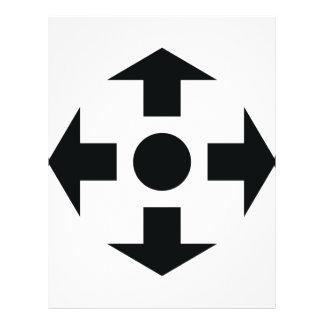 black arrows icon flyer