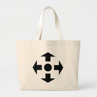 black arrows icon large tote bag