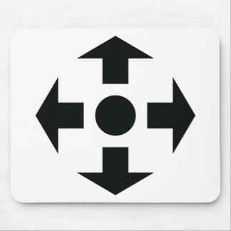 black arrows icon mouse pad