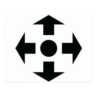 black arrows icon postcard