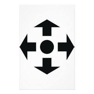 black arrows icon stationery