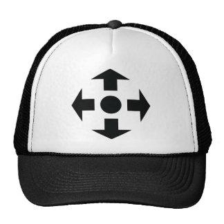 black arrows icon trucker hat