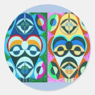 Black Art Colorful Future - Obama Factor Round Classic Round Sticker