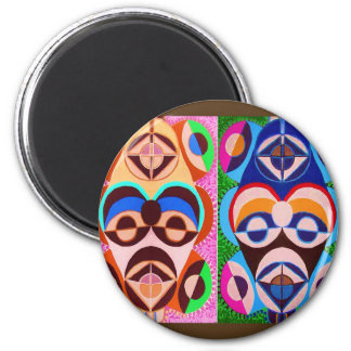 BLACK art in COLOR .. Freedom of expression 2 Inch Round Magnet