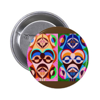 BLACK art in COLOR .. Freedom of expression 2 Inch Round Button