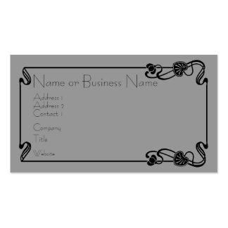 Black Art Nouveau Border Business Card