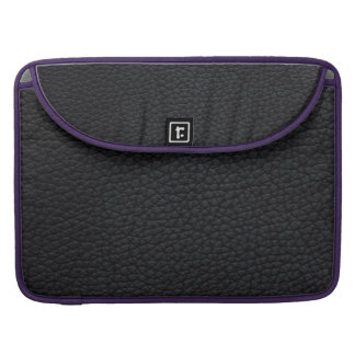 Black artificial furniture leather sleeve for MacBook pro