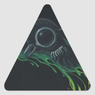 Black as pitch triangle sticker