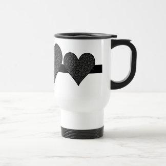 Black Asphalt Heart Travel Mug