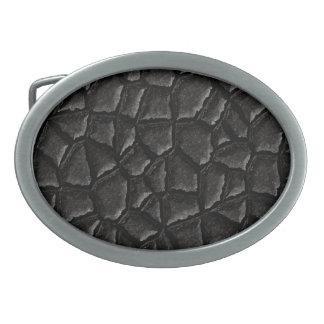 Black Asphalt Oval Belt Buckle