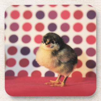Black Astralorp Chick Beverage Coaster