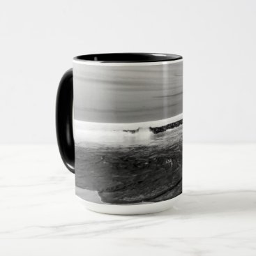 Beach Themed Black Atlantic 001 Combo Mug by Artist C.L. Brown