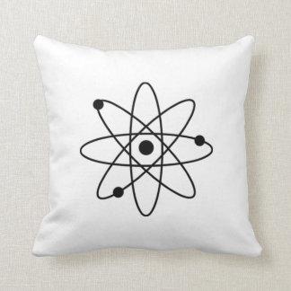 Black Atom Pillowcase Throw Pillow