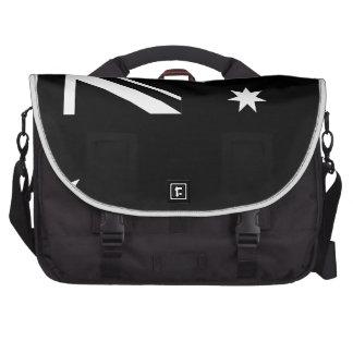Black Australia Country Flag Laptop Bag