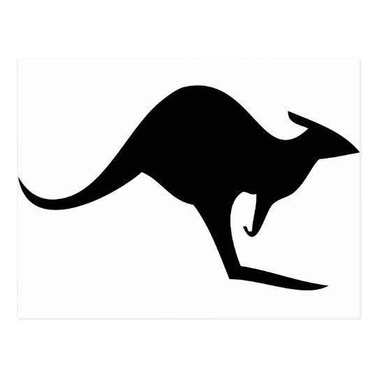 black australian kangaroo - australia postcard