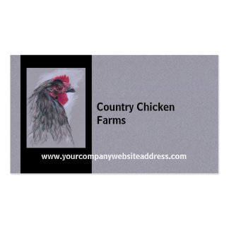 Black Australorp Hen Double-Sided Standard Business Cards (Pack Of 100)