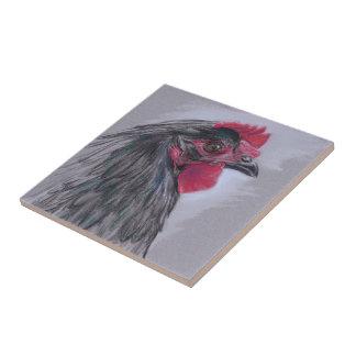 Black Australorp Hen Ceramic Tiles