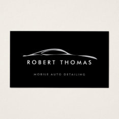 Black Auto Detailing, Auto Repair Business Card at Zazzle