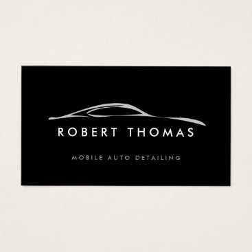 Professional Business BLACK AUTO DETAILING, AUTO REPAIR BUSINESS CARD